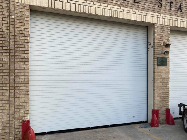 12 x 10 Rolling Steel Doors Installed by VES Specialists at Fire Station
