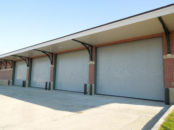 Insulated Rolling Door on Industrial Building